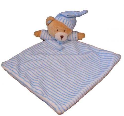 Baby Bear Blankie Blue - Baby Comforter