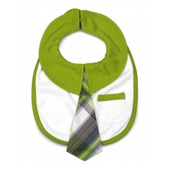 Baby Bib with Tie (colour: grasshopper)