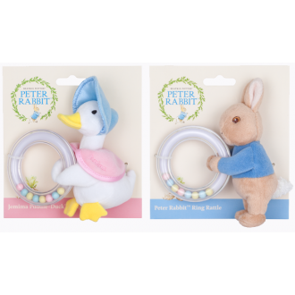 Peter Rabbit or Jemima Puddleduck Ring Rattle