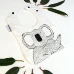 Joey Jelly Bean Bib - Koala - Cream