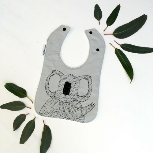 Joey Jelly Bean Bib - Koala - Grey