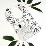Joey Jelly Bean Bib - Koala Gum Nuts & Leaves - Cream