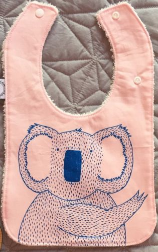 Joey Jelly Bean Bib - Koala - Pink