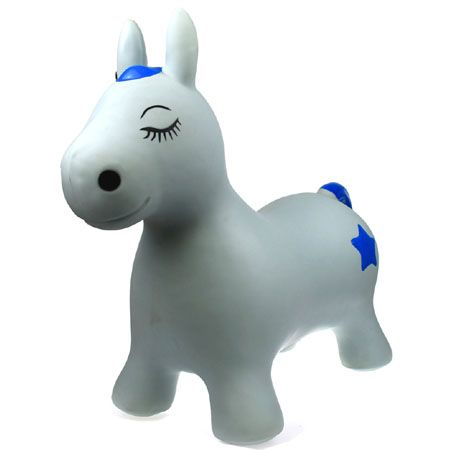 White and Blue Misty the Pony Bouncy Rider  - Hopper