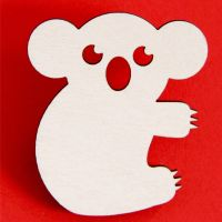 Kate the Koala Wooden Brooch