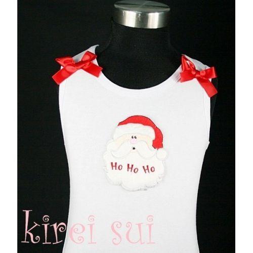 Santa Ho Ho Ho - Christmas Singlet/Tanktop (sizes 3 months to 6 year)