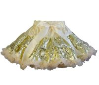 Gold Sequin Pettiskirt