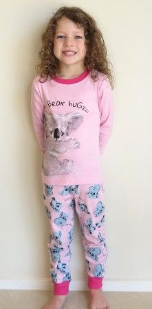 Pink Koala Pyjamas/ PJ set (only size 6 left)