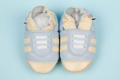 Woddlers Kicks Soft Sole Shoes - Light Blue Cream (sizes from 13cm to 16cm