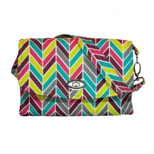 Lillybit  Diaper/Nappy Clutch - Nappy Bag -  Chevron