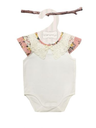 Love Henry Mae Lace Collar Romper  (Sizes 000 to 2)