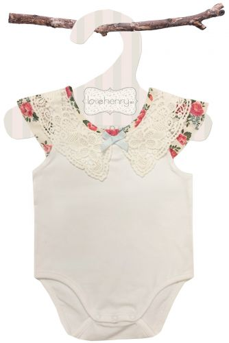 Love Henry Rose Lace Collar Romper  (Sizes 00 to 2)