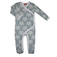Love Henry Ruby Winter Onesie Damask
