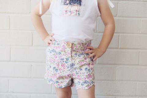 Love Henry Violet Scalloped Hem Shorts (Sizes 00 to 2 & 5)