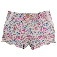 Love Henry Violet Scalloped Hem Shorts (Sizes 00 to 2 & 5 to 8)