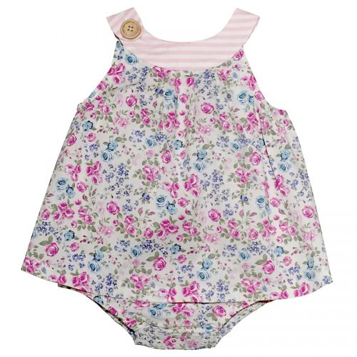 Love Henry Violet Sofia Playsuit White Floral (Sizes 000 to 2)
