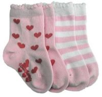 Love Bug Socks - 2 pair  (Sizes up to 4 years)