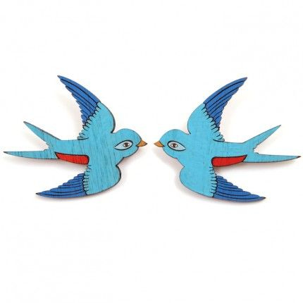 Pair of Swallows Brooches (Set of 2)