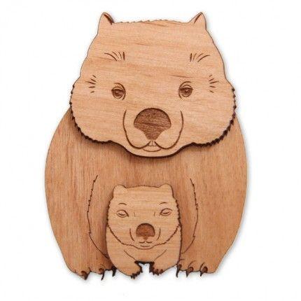 Wombat Brooch - Great Aussie Gift
