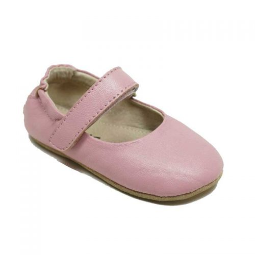 SKEANIE Lady Janes - Leather Soft Sole Baby Shoes- Pink (only small left)