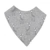 Mister Fly Grey Giraffe Dribble Bib