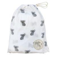 Mister Fly - Koala Jersey Cot Sheets - White