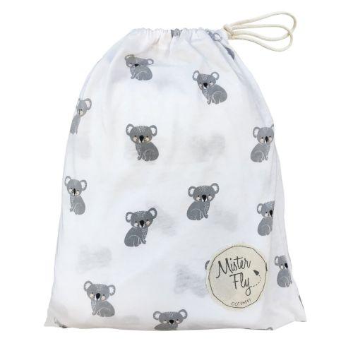 Mister Fly - Koala Jersey Cot Sheets - Cream