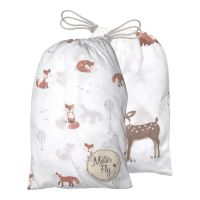 Mister Fly - Fox and Woodland Jersey Bassinet Sheets  - Twin Pack