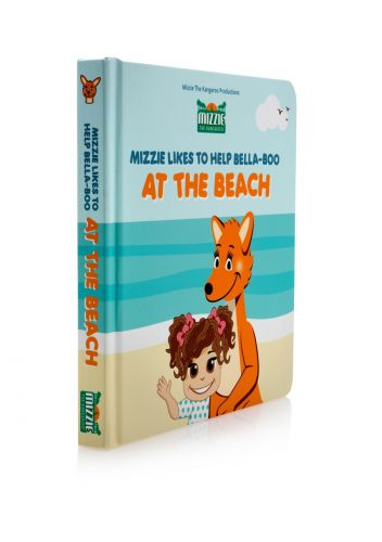 At the Beach- Mizzie Kangaroo Book- Interactive Baby Board Book