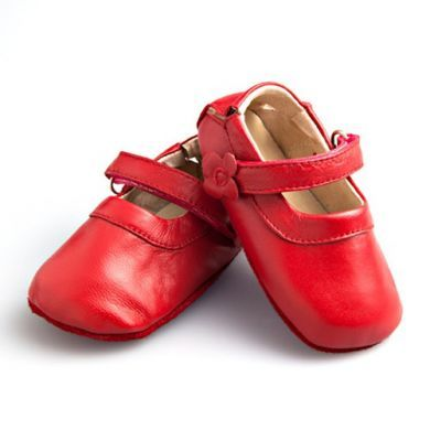 SKEANIE Mary Janes - Leather Soft Sole - Red (only large left)