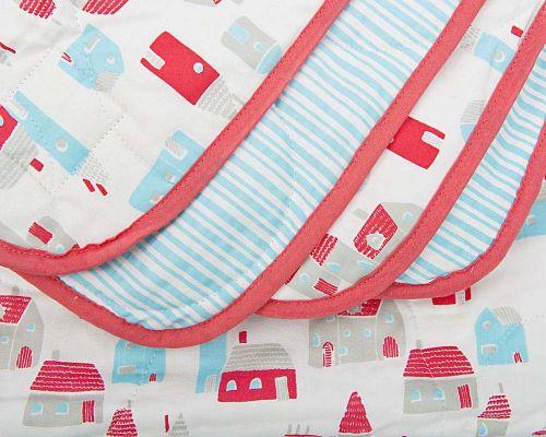 Luxury Organic Baby Quilt – Village