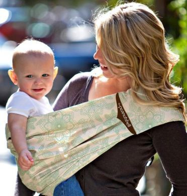 Morning Bloom Adjustable Peanut Shell Baby Sling