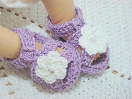 Crochet Flower Sandals - Various Colours