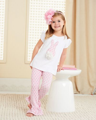 Mud Pie -Bunny Tunic and Leggings Set (Only size 5 left)