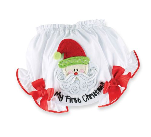 My First Christmas Bloomers/Nappy Cover (0-6 mths)