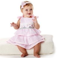 Mud Pie -Smocked Dress- Easter Bunnies