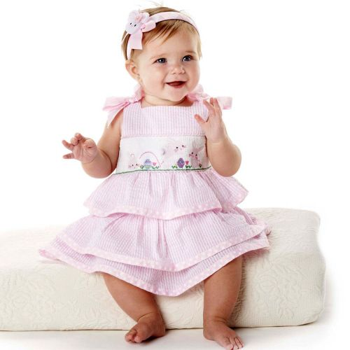 Mud Pie -Smocked Dress- Easter Bunnies (Last one left 12-18 months)