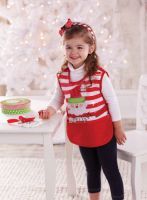 Mud Pie Christmas Santa Smock/Apron - I Believe