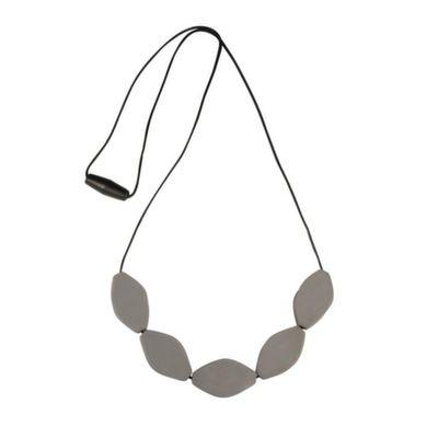 MummaBubba Jewellery - Teething Necklace - Large Tulip Beads - Stormy Grey