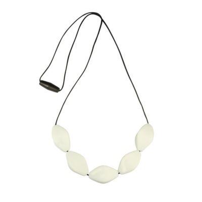 MummaBubba Jewellery - Chew Necklace - Large Tulip Beads - White