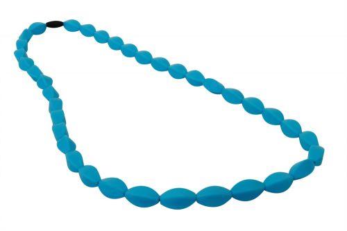 MummaBubba Jewellery - Teething Tulip Necklace -Bright Light Blue