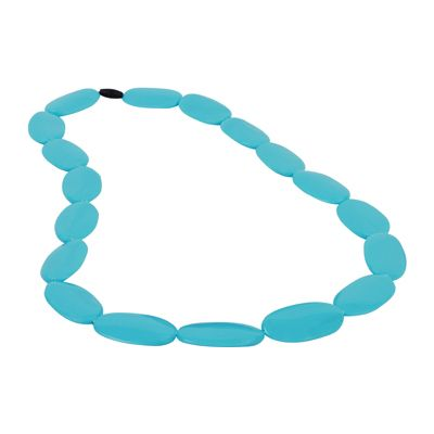 MummaBubba Jewellery - Teething Necklace - Alice - Bright Light Blue