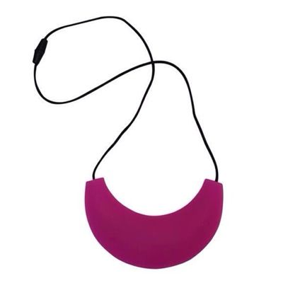 MummaBubba Jewellery - Cleopatra Chewable Teething Necklace - Hot Pink