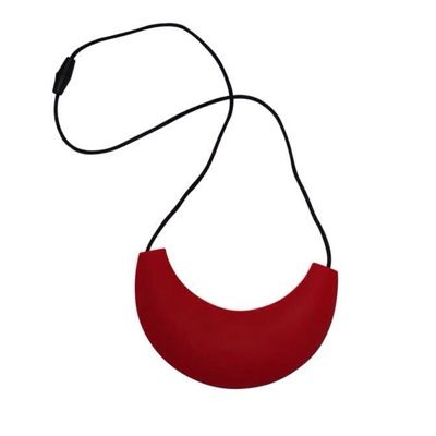 MummaBubba Jewellery - Cleopatra Chewable Necklace - Deep Red