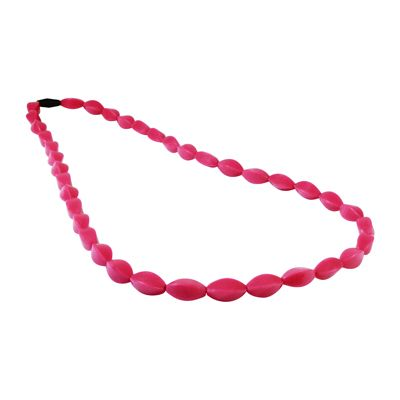 MummaBubba Jewellery - Teething Tulip Necklace -Magenta Pink