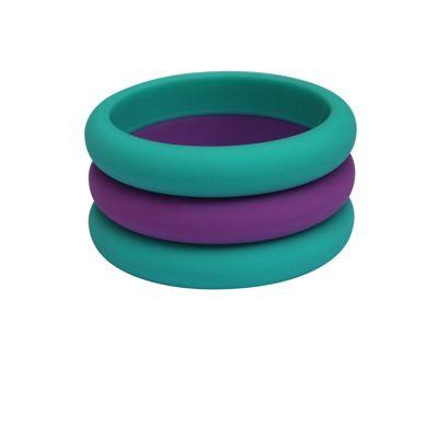 MummaBubba Jewellery - Teething Three Bangle Set -Purple & Green