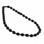 MummaBubba Jewellery - Breastfeeding Necklace - Audrey - Black with Black cord