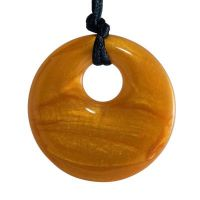 MummaBubba Jewellery - Teething Pendant - Gold Swirl