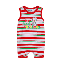 Stripey My First Christmas Romper Baby Christmas Outfit (Only 000 & 00 left)