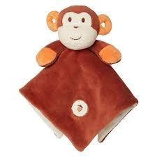My Natural Organic Cotton Lovie Blanket - Monkey